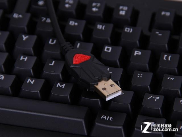 狼蛛机械鬼王三区机械键盘连接线